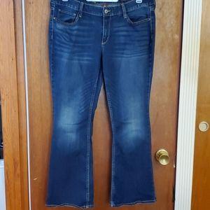 Arizona curvy bootcut dark wash jeans 15 short EUC